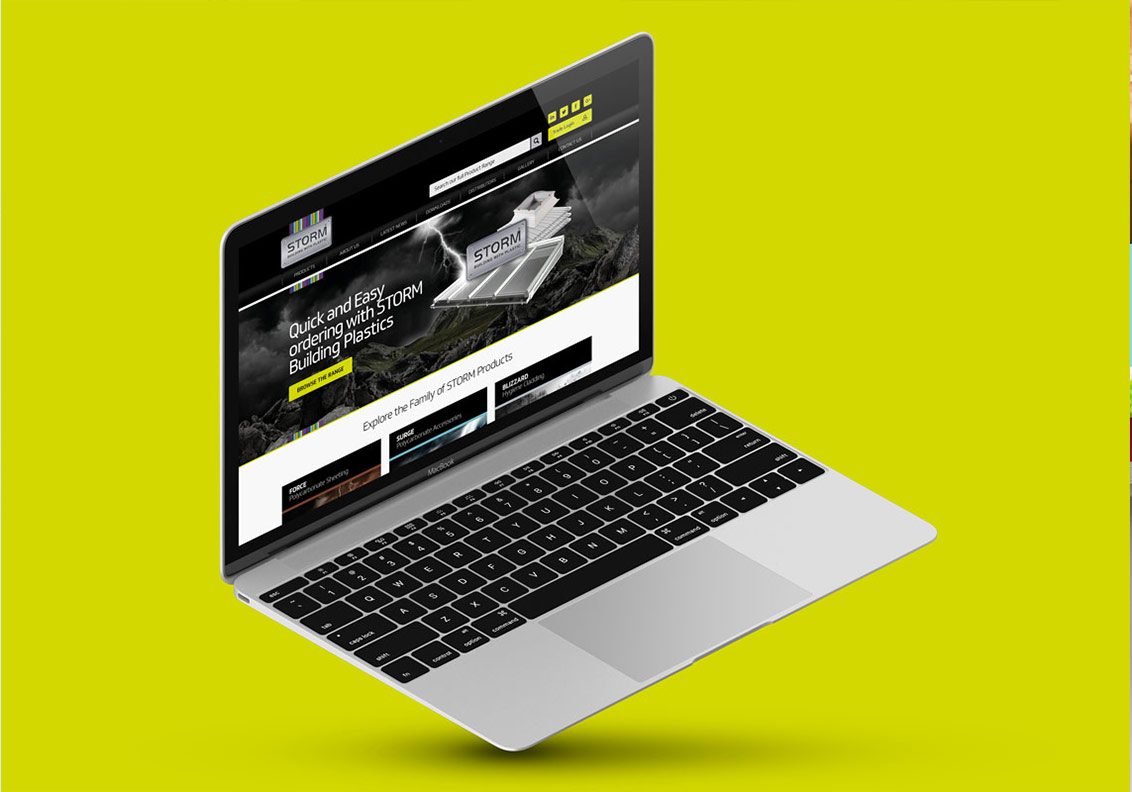 Storm Building Plastics New Website portfolio image