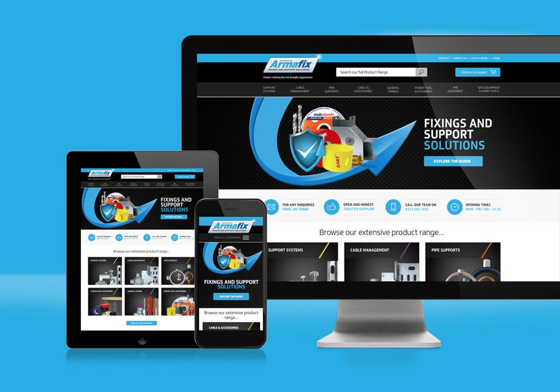 Armafix New Website portfolio image