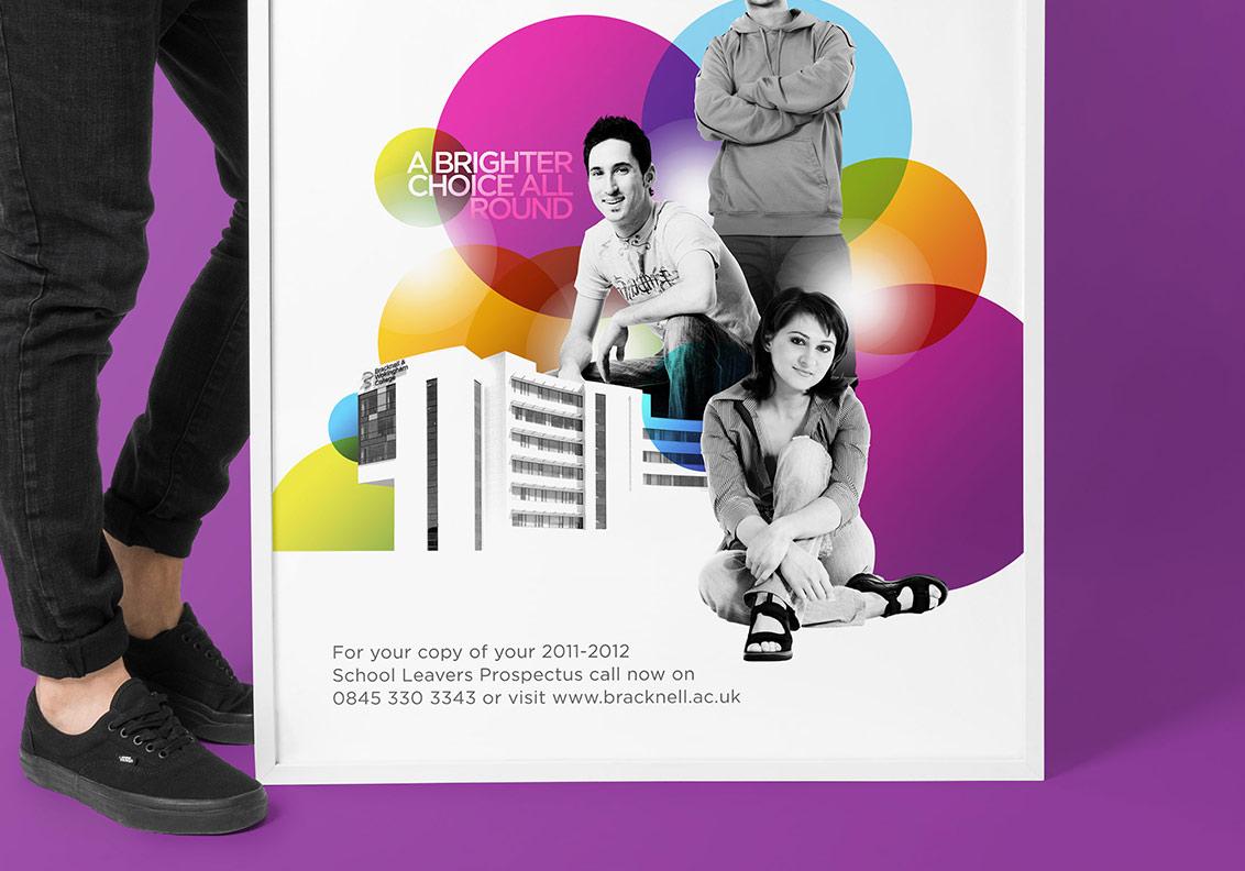 Bracknell College Prospectus Design and Production portfolio image