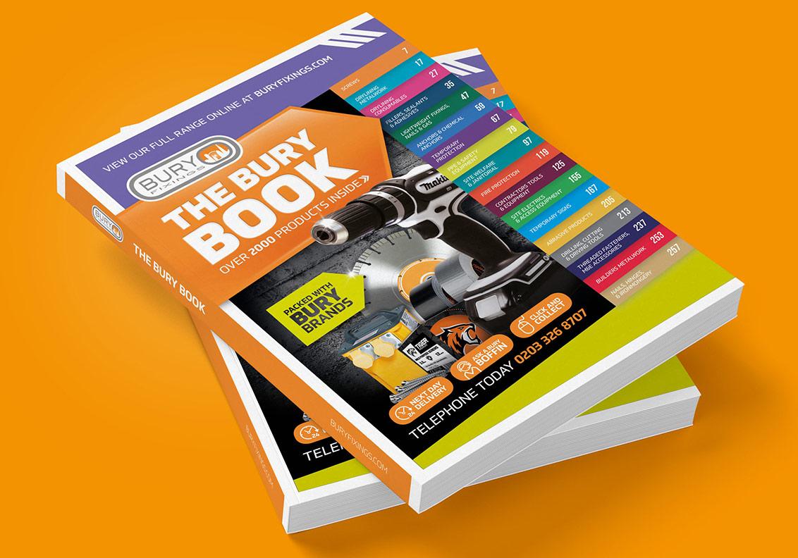 Bury Fixings Catalogue design and production portfolio image